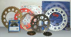 Collection of sprockets